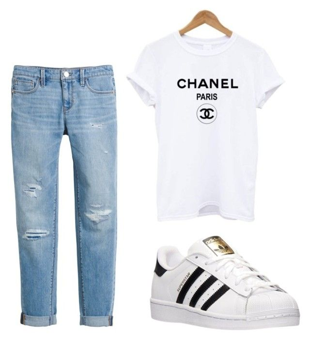 """""""Casual"""" by paulinefrydkaer on Polyvore featuring White House Black Market and adidas"""