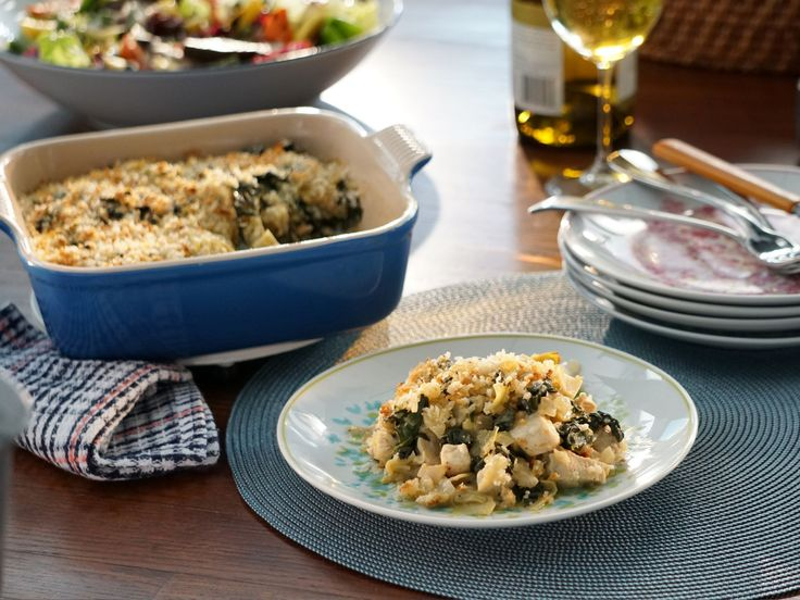 Kale and Artichoke Chicken Casserole recipe from Valerie Bertinelli via Food Network
