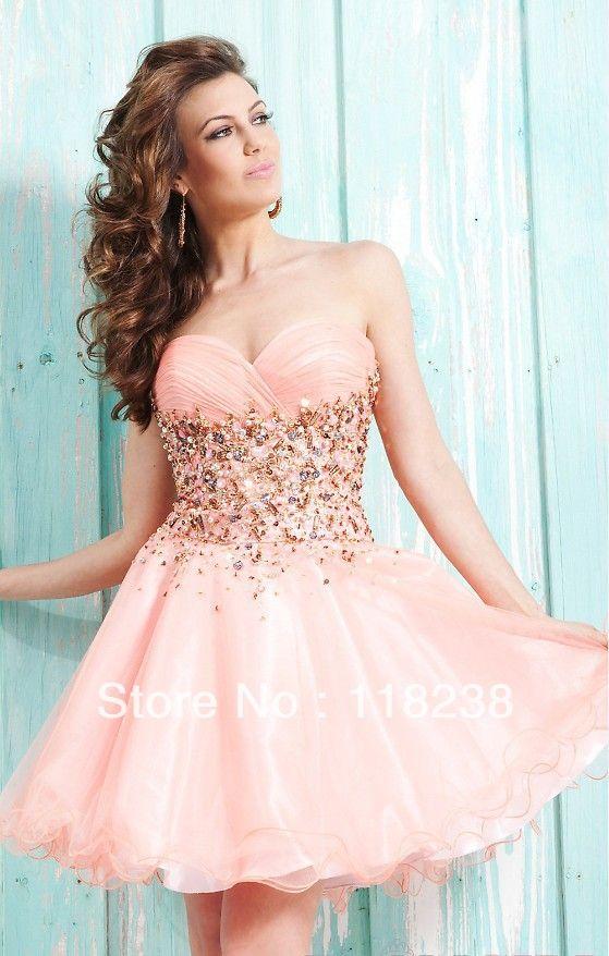 2014 nuevo de color rosa pálido con pliegues de diamantes de imitación deslumbrante cáscara de tul vestido de