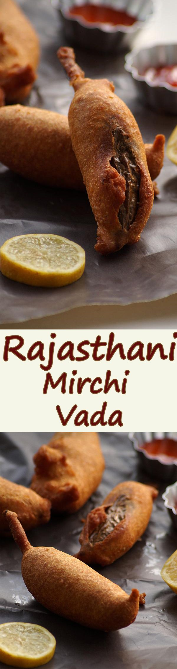 Jodhpuri Mirchi Vada Recipe - Rajasthani Style Mirchi Pakora with spicy potato filling. Recipe with step by step photos and full video. blendwithspices.com