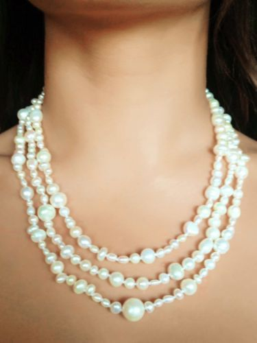 Gorgeous 62 inch Freshwater White #Pearl Rope Necklace, Gatsby style www.facebook.com/apassionforpearls