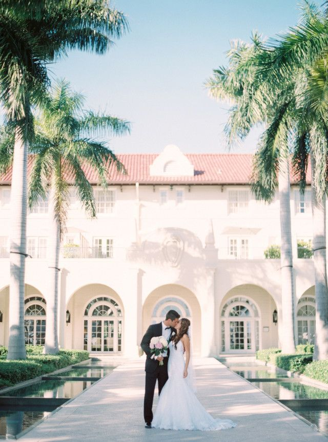bride and groom portraits at Casa Marina in Key West / photo by melaniegabrielle.com