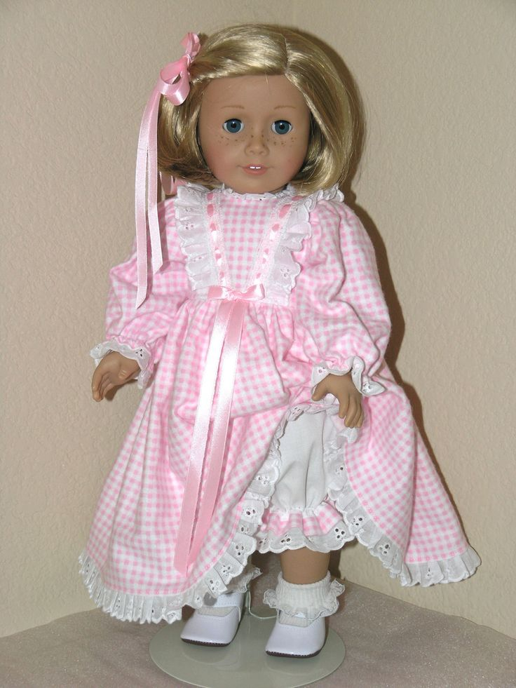 FLANNEL NIGHTGOWN PAJAMAS PINK CHECK American Girl Doll