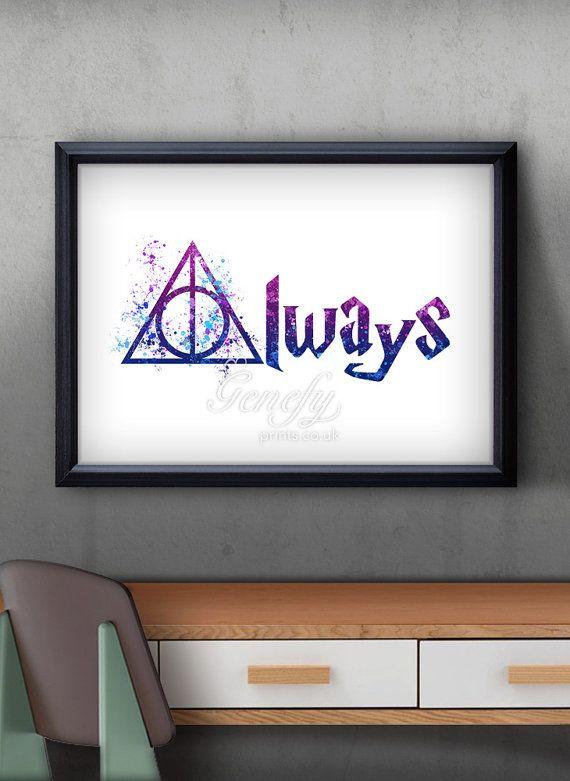 Harry Potter und die Heiligtümer des Todes von GenefyPrints auf Etsy