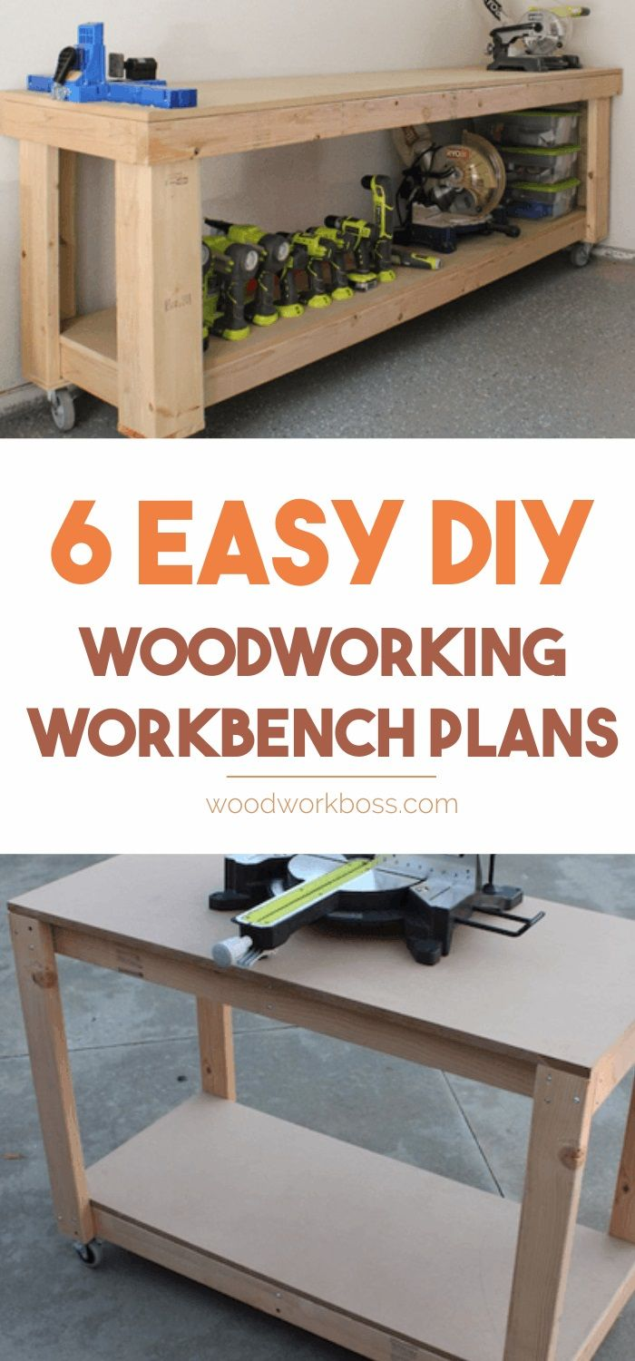 How to Build a Workbench: Best Workbench Plans / DIY Workbench Plans / Workbench Plans for Garage / Great Woodworking Workbench Ideas