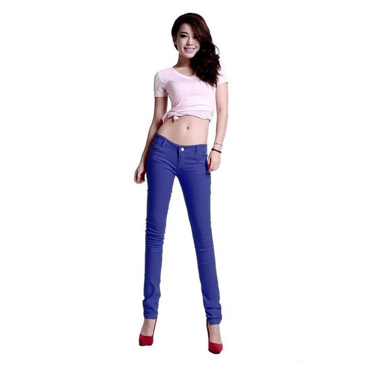 New Korean Women Pencil Pants Candy Color Skinny Jeans Women Hips Fitness Trousers Female Jeans Plus size #Affiliate