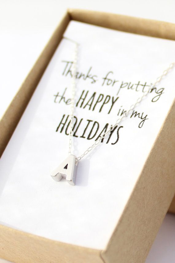 Currently obsessing over powderandjade. For realz. Silver Initial Necklace  Silver Letter Necklace  by powderandjade, $24.00