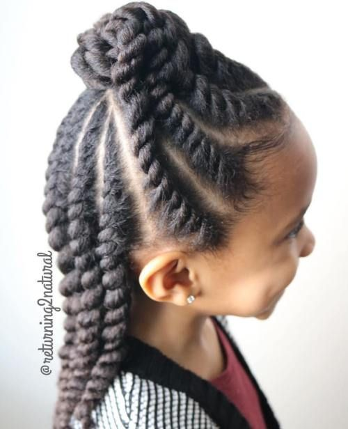 Hairstyles For Black Little Girls cute little fishtail braid with heart httpwwwblackhairinformationcom black girls hairstylescute Black Girls Hairstyles And Haircuts 40 Cool Ideas For Black Coils