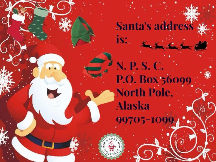 North Pole, AK is a real place, and you can write to Santa at that address.    http://www.northpolealaska.com/