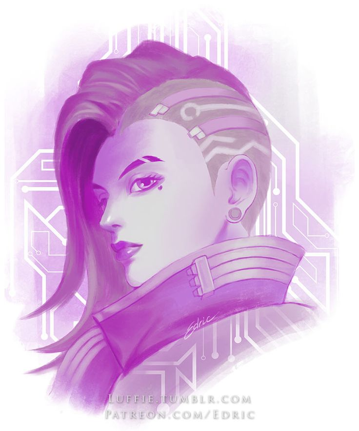 Sombra Purple Hack by luffie Just a simple portrait poster of Overwatch's most notorious hacker. One for each Overwatch member! You can support me at www.patreon.com/Edric?ty=h to get high res PSD,... #sombra #overwatch #painting #portrait #fanart #tracer #dva #reaper