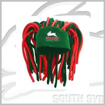 Rabbitohs Dreadlock Fun Hat $20 HAHA!! I want one of these to wear when I ride my horse, HAHA! I can see the dreddies flying in the wind LMFAO