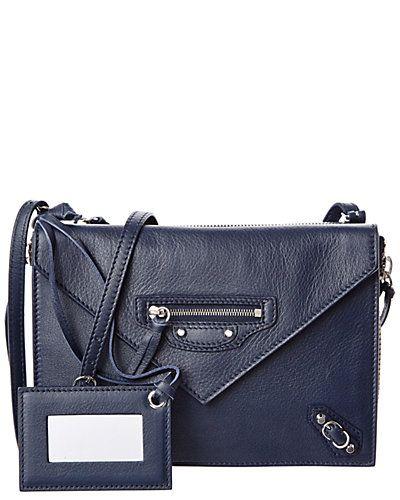 Balenciaga Papier Triple XS Zip Around Leather Crossbody