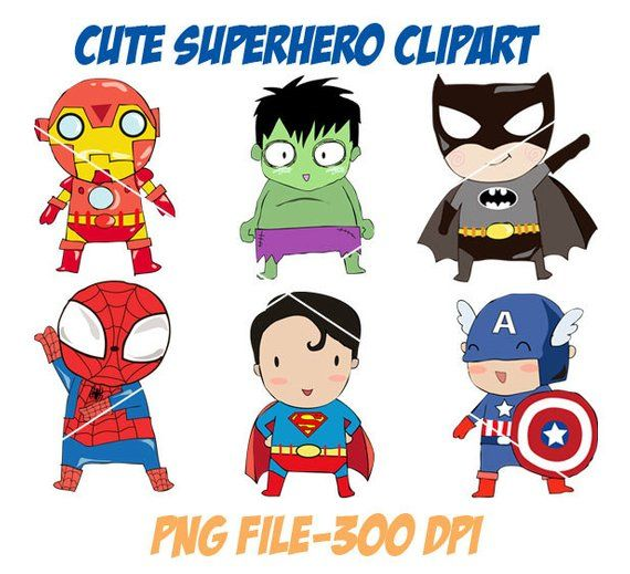 Susse Superheld Clipart Png Datei 300 Dpi Etsy Superhero Clipart Clip Art Superhero