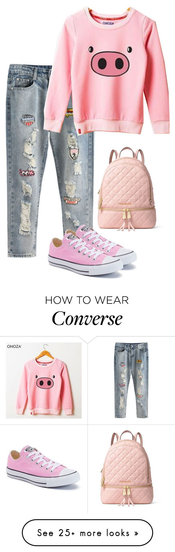 """One of my favorite animals"" by barebear1965 on Polyvore featuring Onoza, Converse and MICHAEL Michael Kors"