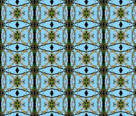 Flower fabric on Spoonflower - custom fabric