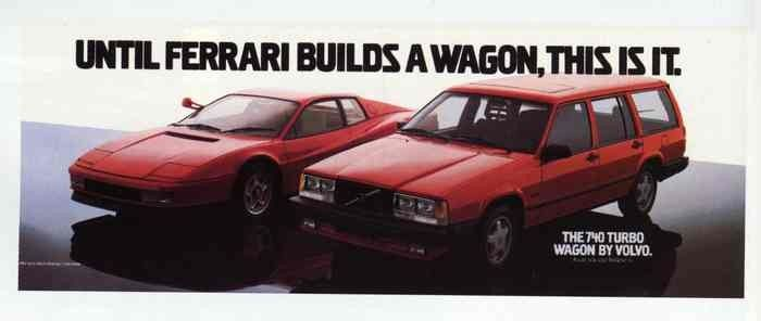 Hauling, and Hauling! Volvo's ads for the 740 Turbo Wagon
