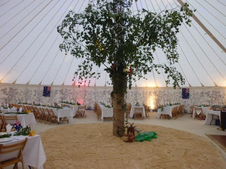 A fab Australian beach party within one of our Traditional Circular Tents.