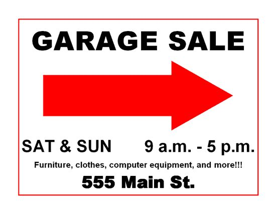 picture regarding Sales Signs Templates known as Garage sale indicator templates - pelc.tk
