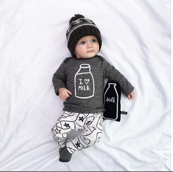 Aliexpress.com: Comprar 2015 nuevo estilo bebé ropa conjuntos de otoño y primavera ropa niñas bebés establece bebé ropa del muchacho fijaron de manga larga y pantalones de ropa años 40 fiable proveedores en Midian Children's wear