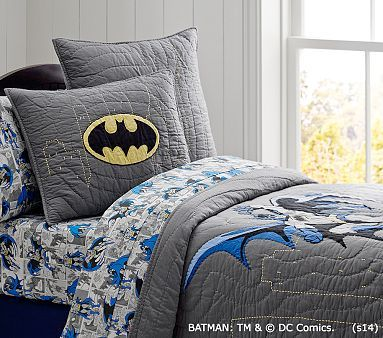 Batman quilt from Pottery Barn- the boys would love!