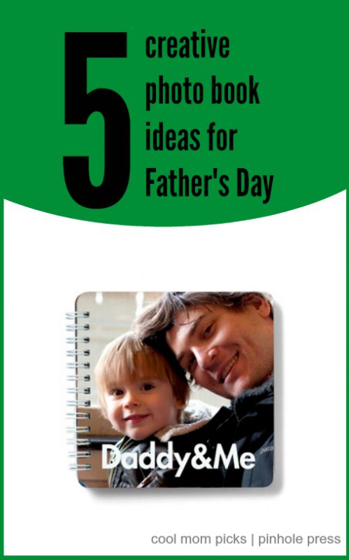 "5 creative photo book ideas for Father's Day -- love these ideas for a little inspiration beyond ""here are photos of the kids with their dad."""