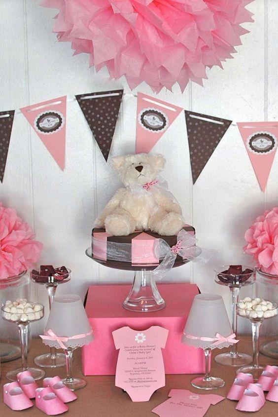 Combina Distintos Tonos De Rosa O Tu Color Favorito En Los Articulos Para  Adornar Tu Mesa. Vintage Baby ShowersParty ...