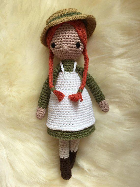 Handmade Anne Of Green Gables Crochet Amigurumi Doll From A
