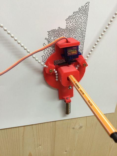 Vertikalplotter im Selbstbau – Teil 1 – Hardware und Arduino – Polargraph, Kritzler, Makelangelo und Co. | Makerblog.at