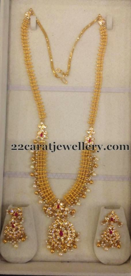 Jewellery Designs: 67 Grams Gold Necklace