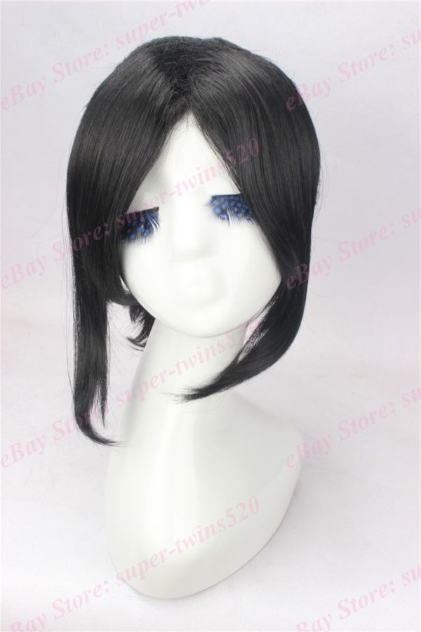 Black Hair Cosplay Wig With High Ponytail Anime Movie Wig By Yukimura Chiduru Wig High Cosplay Cosplay Wigs High Ponytails Ponytail