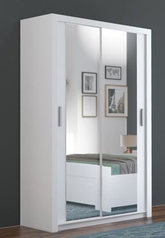 Kledingkast 120 Cm.Bobo Is Een Moderne Mat Witte Kledingkast Van 120 Cm Breed Bestaande
