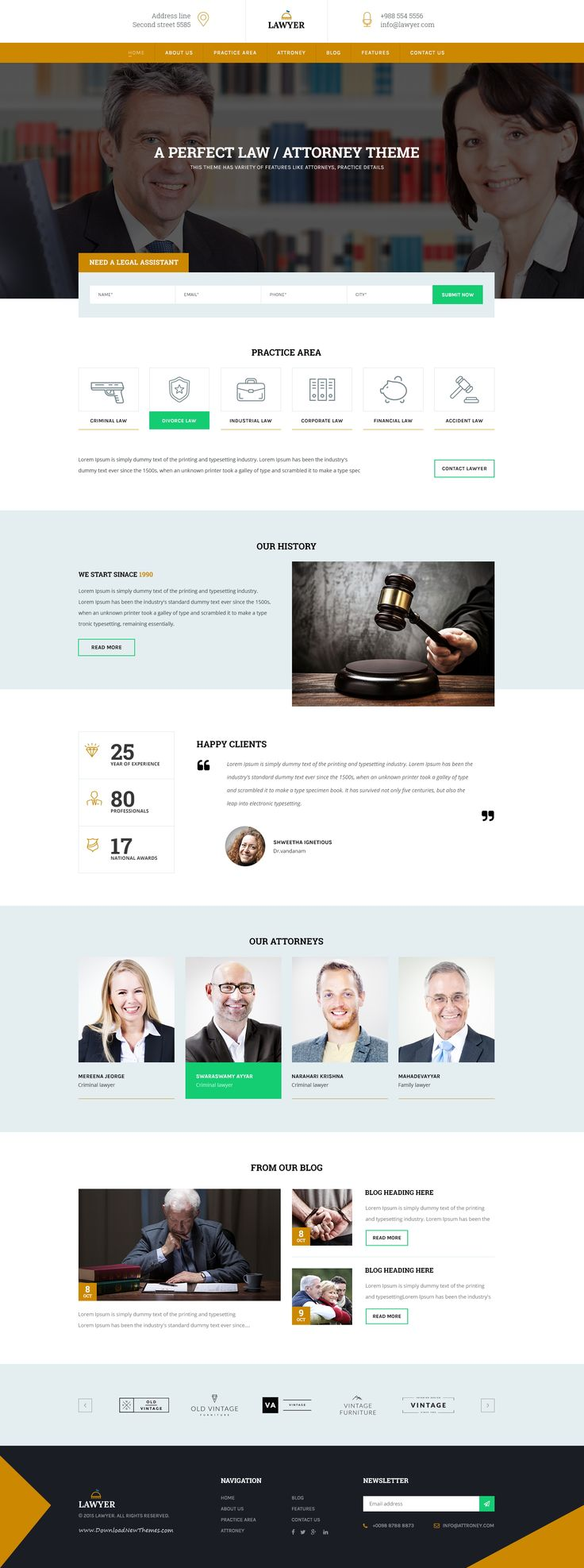 Lawyer Theme – PSD #Template. It's not just #PSD, its a new look of soft and clean professionalism for the Attorney OR #Legal Consultancy.