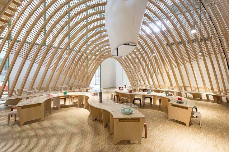 La Balena - Triennale - Milano with laleggera stools by Riccardo Blumer