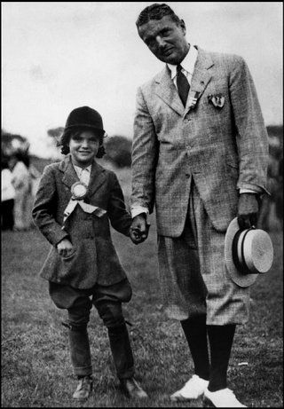 *JACQUELINE KENNEDY ONASSIS ~ Jackie's favorite photo of herself with her father, at a Long Island horse show, 1935.  © Molly Thayer Collection / Magnum Photos