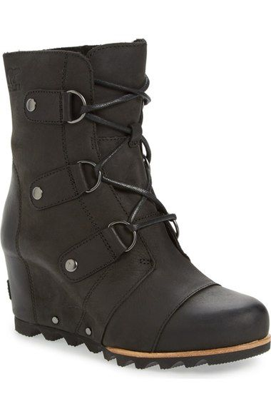 SOREL 'Joan of Arctic' Waterproof Wedge Boot (Women) available at #Nordstrom
