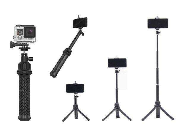 Trippler can be used as a grip, a selfie stick or a tripod