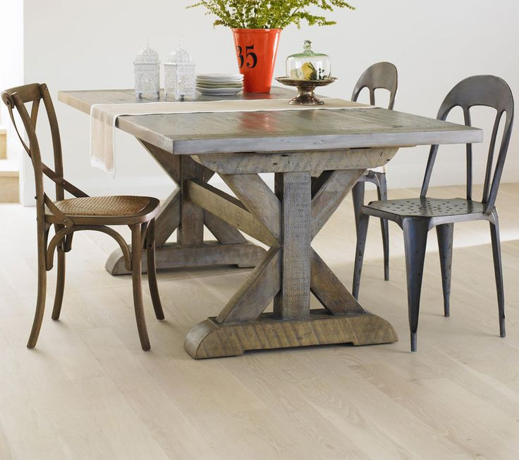 wood table and bistro chairs