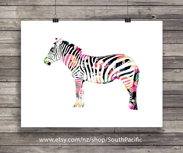Watercolor floral Rainbow Zebra | Graphic black and watercolor zebra print | Printable wall art | African animal decor | Instant download  Buy 2 get 1 free coupon code: FREEBIE  MADE WITH LOVE ♥  Includes: 16x20 print - (easily reduced to 8x10.)  More Zebra art here: https://www.etsy.com/nz/shop/SouthPacific?ref=hdr_shop_menu&search_query=zebra ____________________________  Print as many times as you like, fine for personal and small commercial use. ----...