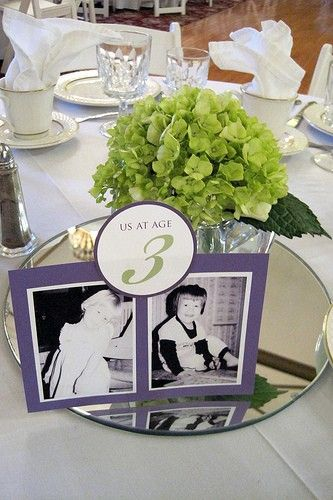 Great subtle way of adding personal touches into the table plan