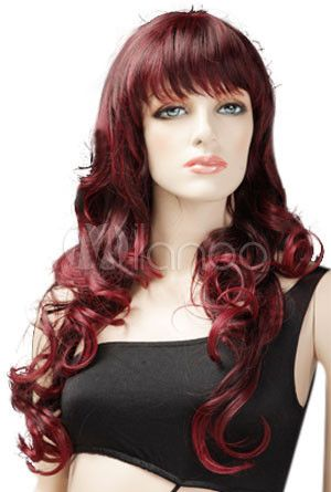 Red Wigs For Women Beautiful Women S 70cm Long Curly Red