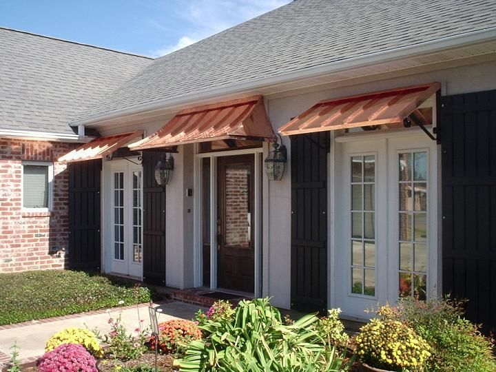 Beautiful Classic Copper Awning   The Classic Gallery   CANNON COPPER AWNINGS    Copper Awning   Metal