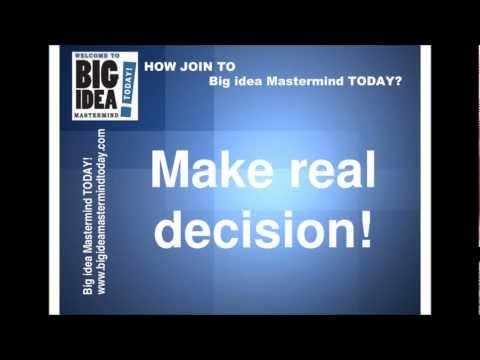 Let's go and join to  Big Idea MasterMind! It's an amazing money making system through Internet. NO doubt, no hasss. Never, and never will be by Big Idea MasterMind ! Only enjoy, and money! Make money with  Big Idea MasterMind !   http://www.bigideamastermindtoday.com