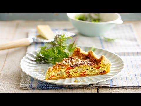 Alpro recept - Huisgemaakte quiche met tofu reepjes en kaas