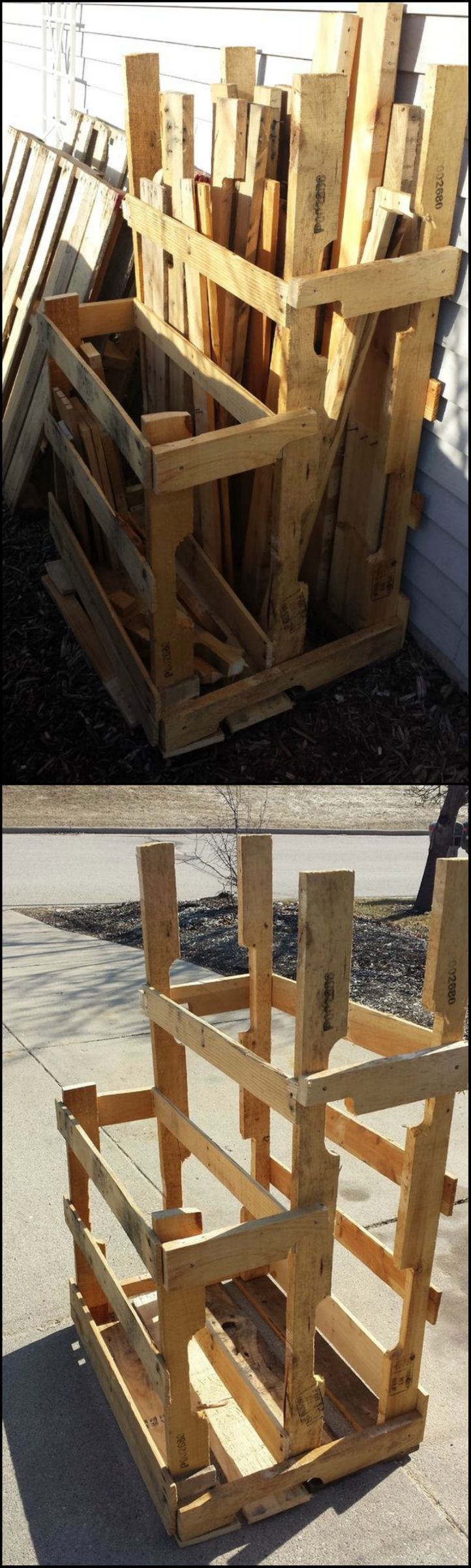 How To Build A Pallet And Loose Lumber Enclosure Tower…