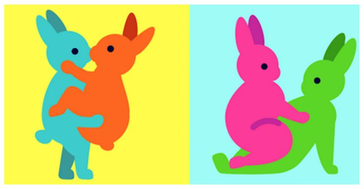 'Bunnies Doing It' Are The Sexy Easter Emojis You Didn't Know You Needed... Too weird for the bath room?