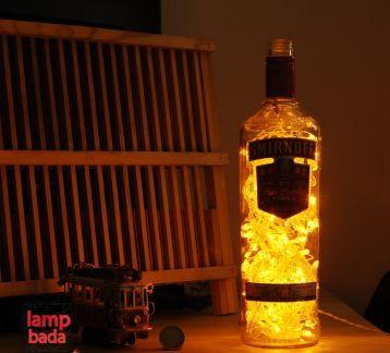 Smirnoff Bottle Lamp, Tasarım, Cam Masa Gece Lambası