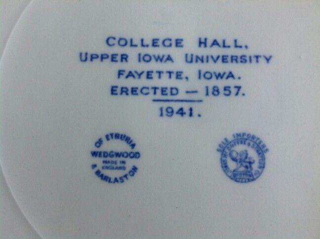 Upper Iowa University plate