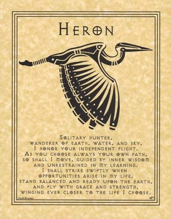 Spirit Totem Animals:  Heron.