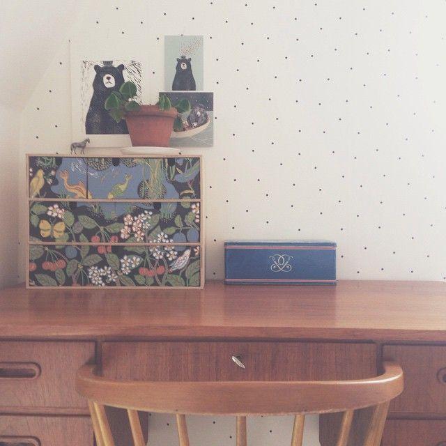 Mammas kökstapet på mormors gamla lådor. #joseffrank