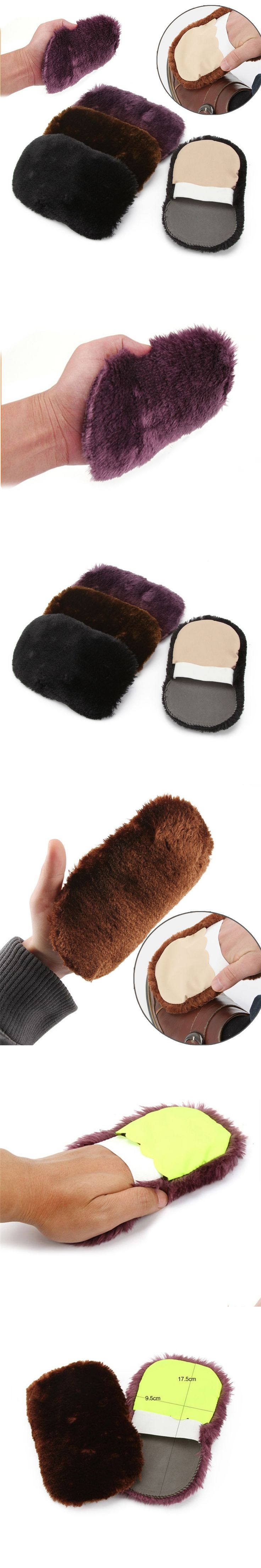 1 Pcs Hot Sale Fashion Soft Wool Plush Suede Shoes Cleaner Shoe Care Brush Shoe Gloves Wipe Shoes Mitt